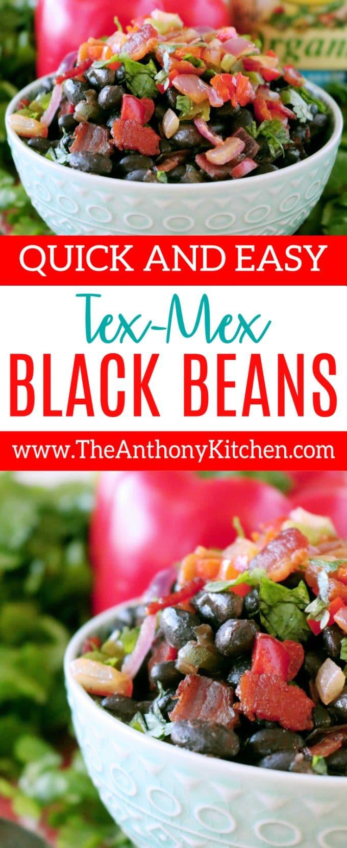 EASY CANNED BLACK BEAN RECIPE | TEX MEX BLACK BEANS