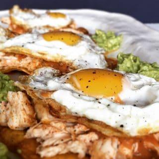 Huevos Rancheros with Shredded Chicken | Recipe