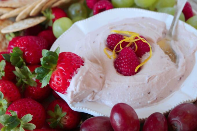 Raspberry Mascarpone Fruit Dip