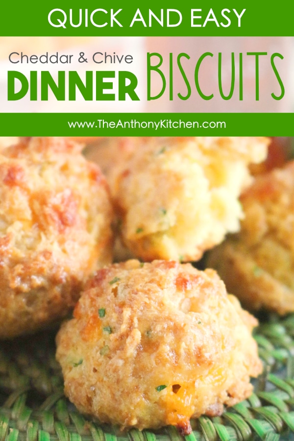CHEDDAR AND CHIVE DINNER BISCUITS