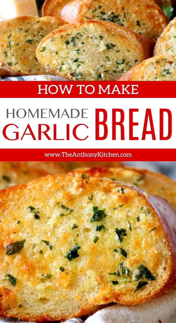 Easy Homemade Garlic Bread | Recipe - The Anthony Kitchen