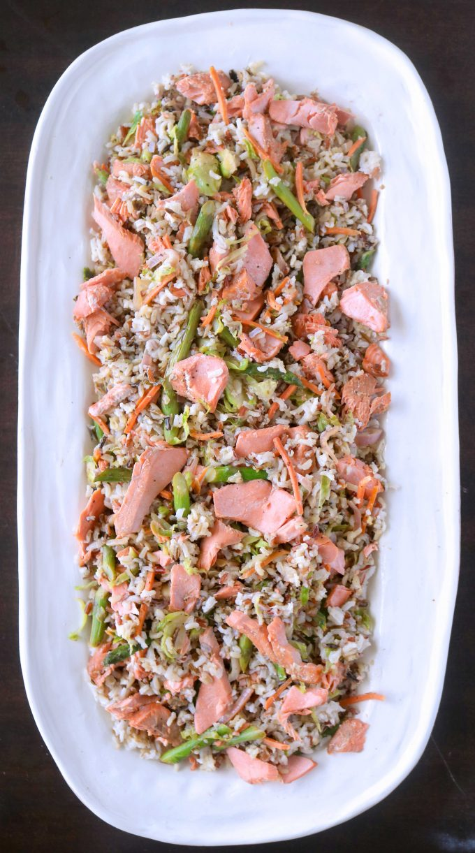 Salmon and Wild Rice Salad