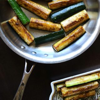 Pan-seared Zucchini Spears
