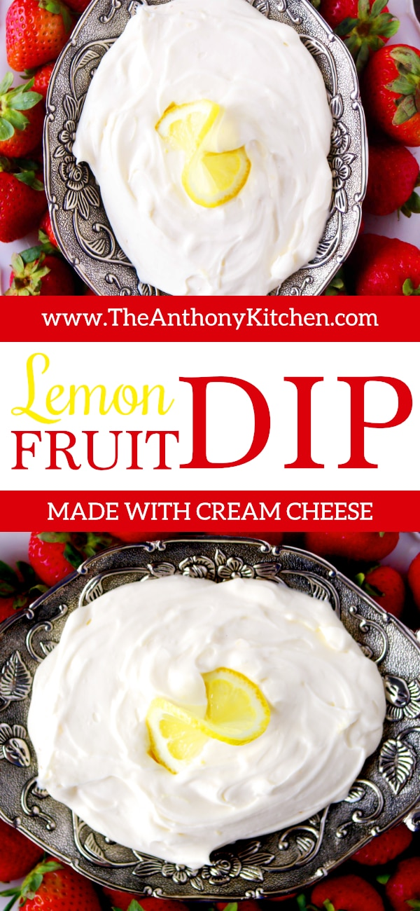 LEMON FRUIT DIP WITH CREAM CHEESE