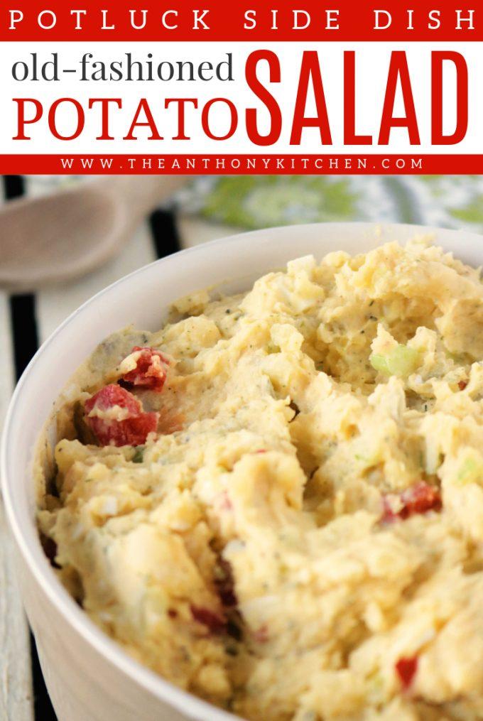 Old Fashioned Mashed Yellow Potato Salad