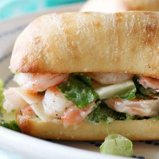 Shrimp Sandwich with Caesar Salad Topping | Recipe
