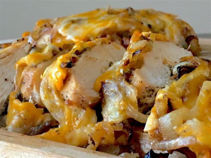 Smothered Chicken with Onions and Cheese