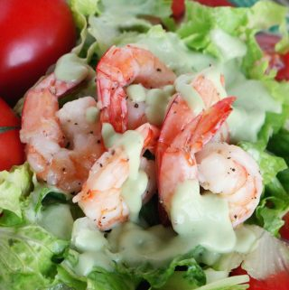 Shrimp and Tomato Salad with Green Goddess Dressing | Recipe
