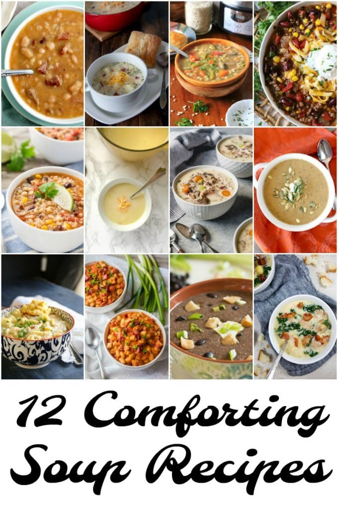 Pinterest image for 12 comforting soup recipes