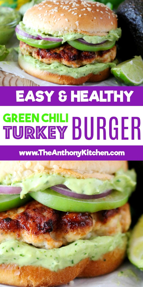 Healthy Turkey Burger with Green Chilis