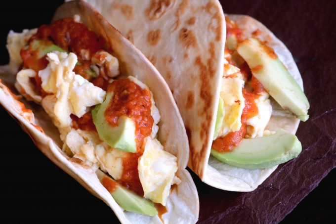 Healthy Breakfast Taco with Ranchero Sauce