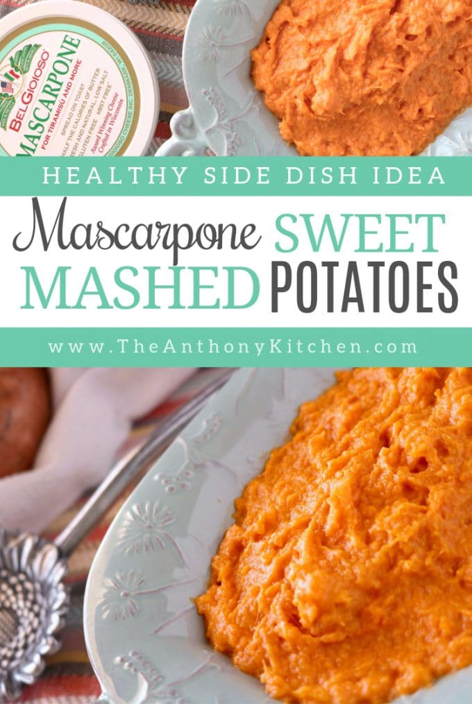 Pinterest image of Healthy Sweet Potato Recipe with Mascarpone Cheese