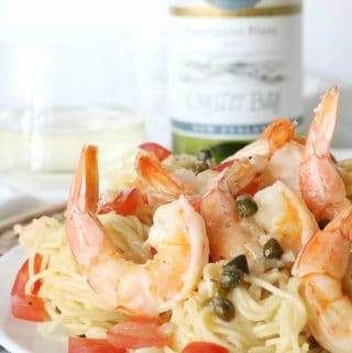 Shrimp and Pasta with Fresh Tomatoes and Capers