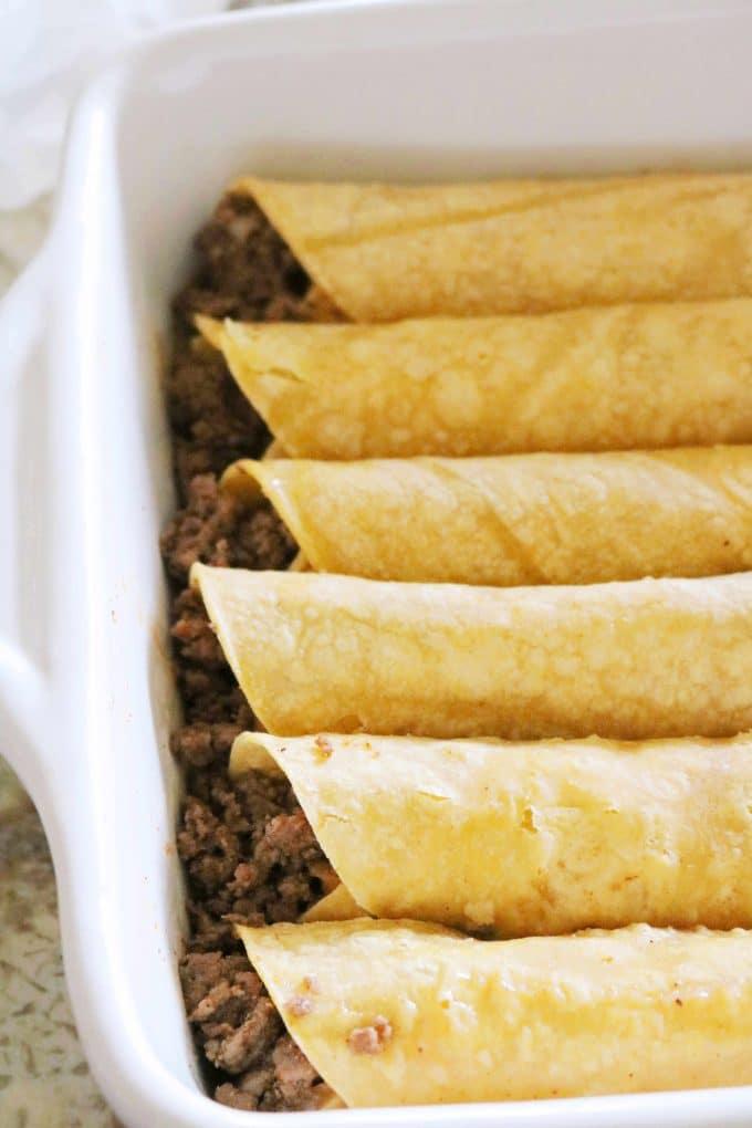 Rolled Beef Enchiladas