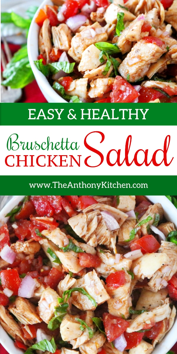 Bruschetta Chicken Salad | Healthy Chicken Salad Recipe