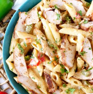 Skillet Queso Chicken and Pasta