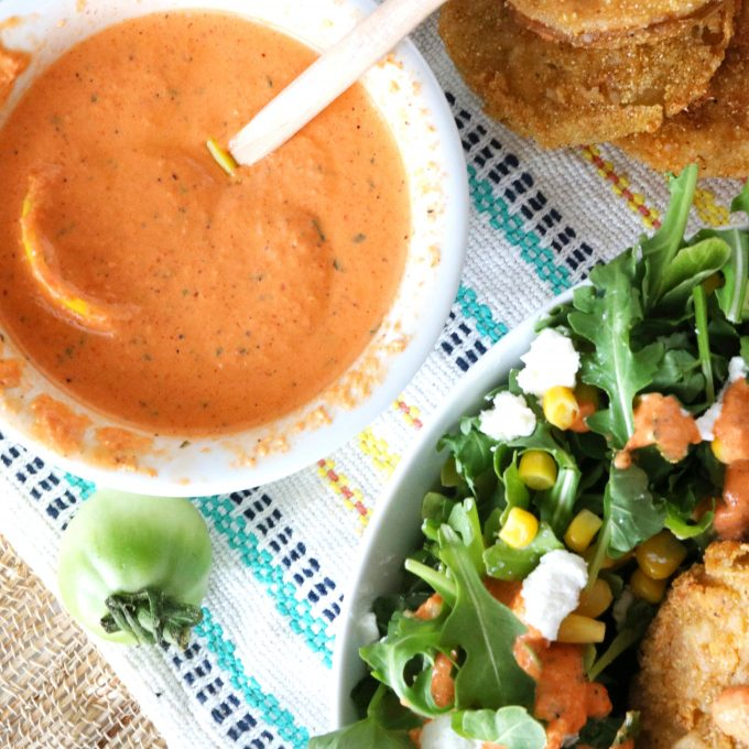 Roasted Red Pepper Dressing for Fried Green Tomatoes