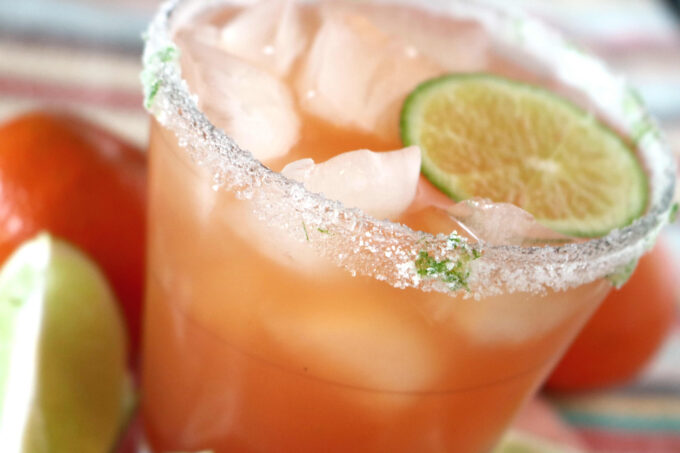 Fizzy Blood Orange Margarita