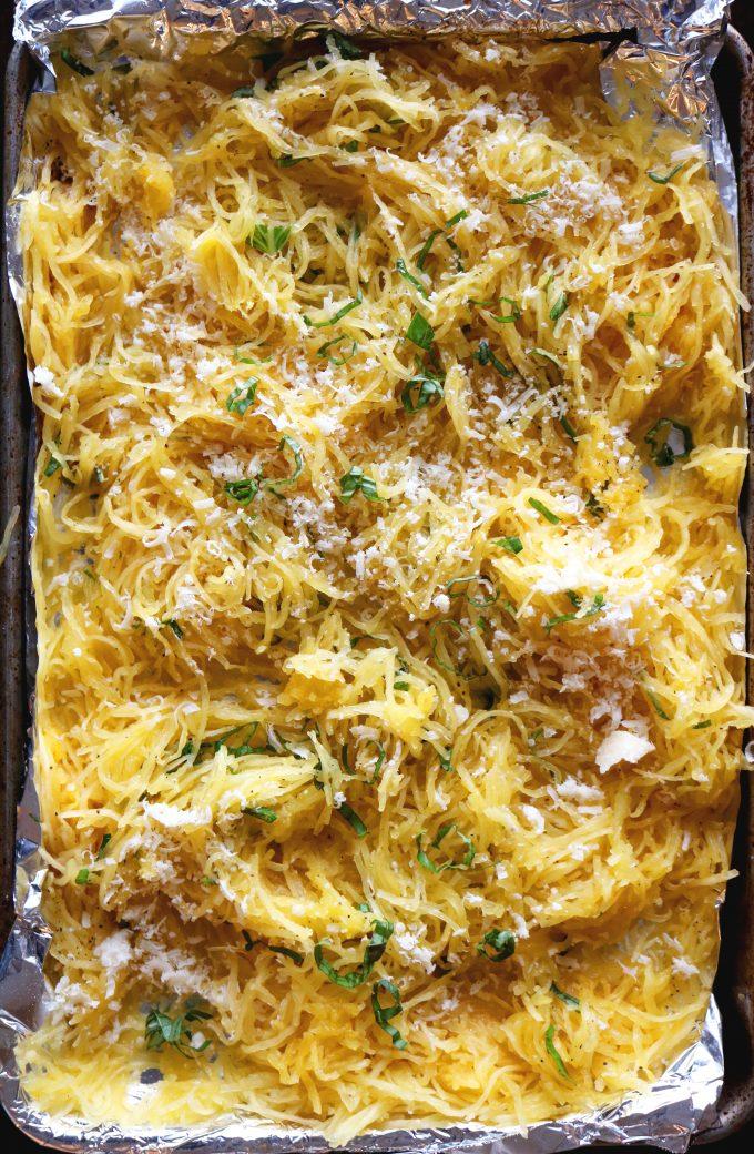 Basil-Parmesan Spaghetti Squash