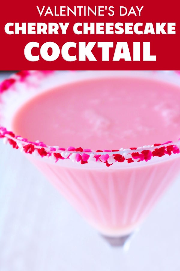 PInterest image of Valentine's Day Cocktail | Galentine's Day Cocktail