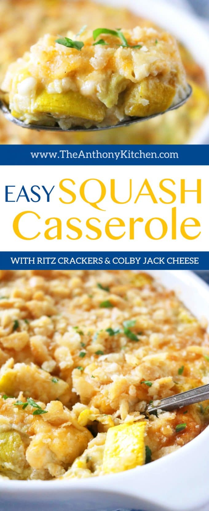 Easy Squash Casserole with Ritz Crackers