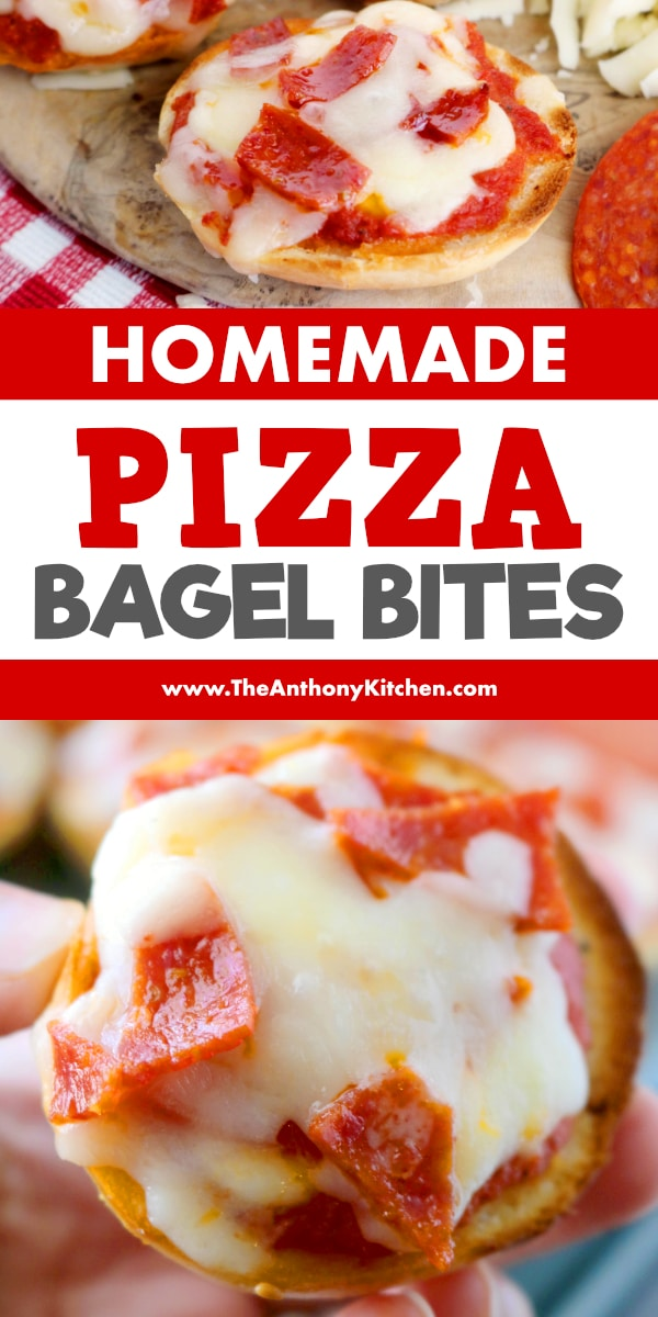 Pizza Bagel Bites With Make Ahead And Freezer Tips The Anthony Kitchen