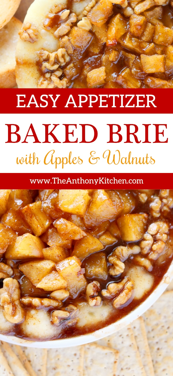 EASY BAKED BRIE WITH APPLES