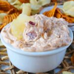 French Onion Dip with Caramelized Onion and Bacon