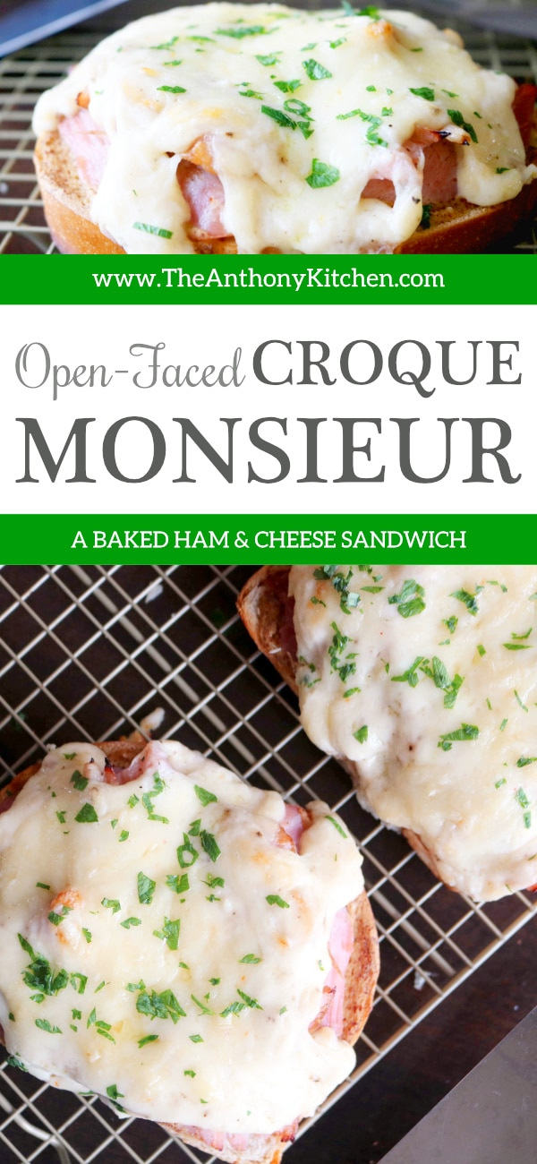 BAKED HAM AND CHEESE SANDWICH | CROQUE MONSIEUR