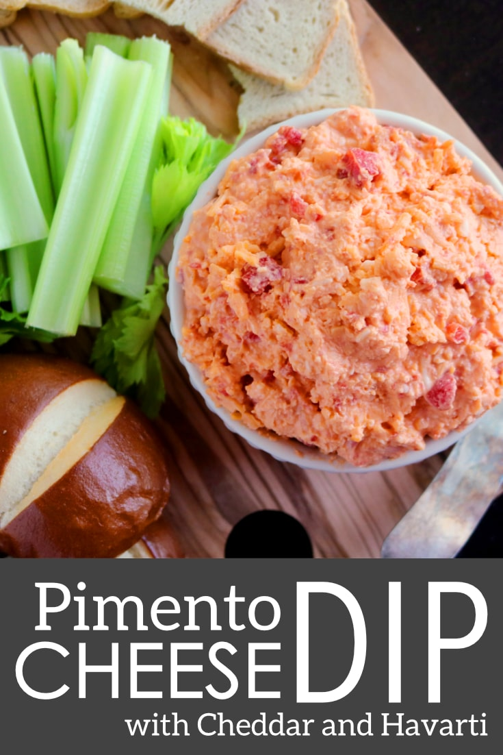 The best homemade pimento cheese spread, featuring Cheddar cheese, Havarti, and roasted red peppers. Perfect for spreading on sandwiches or serving as a dip at parties! Plus, quick and easy food processor instructions!