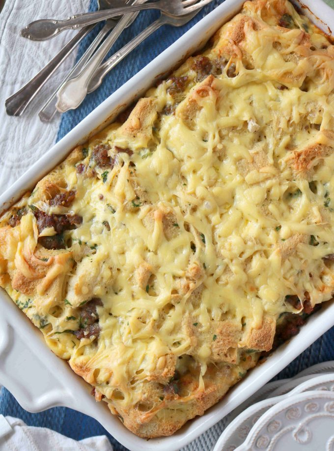 Sausage and Gouda Breakfast Strata