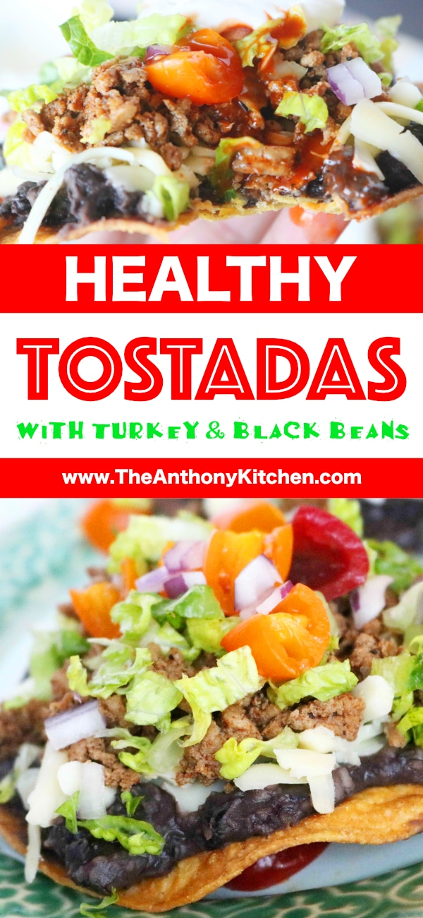 Healthy Tostada Recipe with Black Beans and Ground Turkey