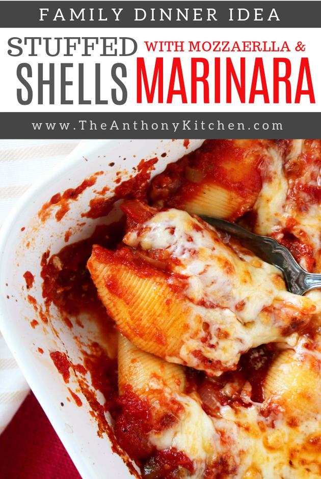 A recipe for easy stuffed shells with ricotta cheese, Fontina and Parmesan.