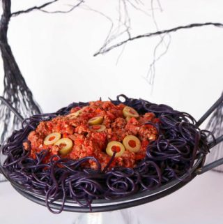 Halloween Party Food | Swamp Monster Spaghetti