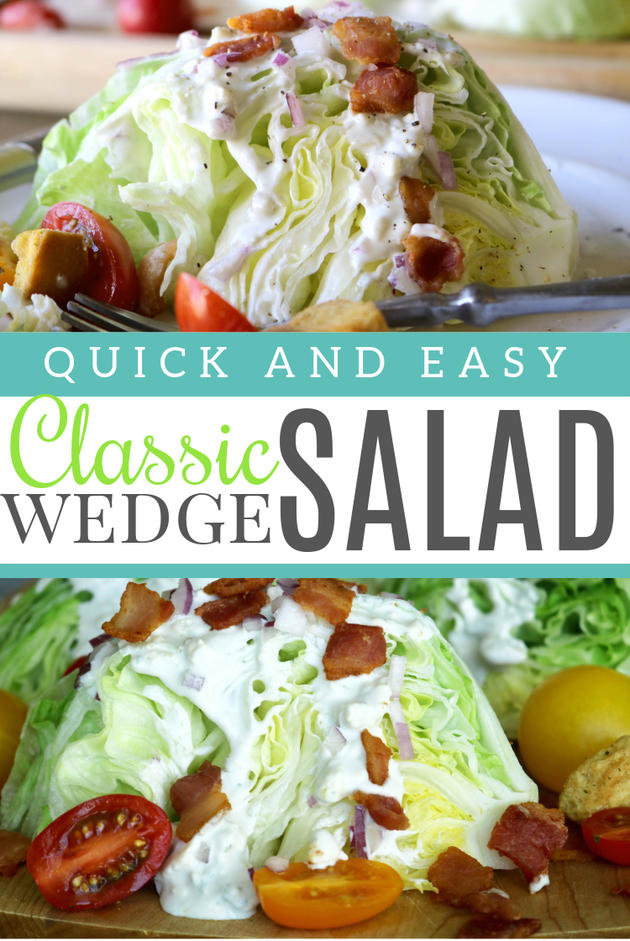 Pinterest image for classic wedge salad