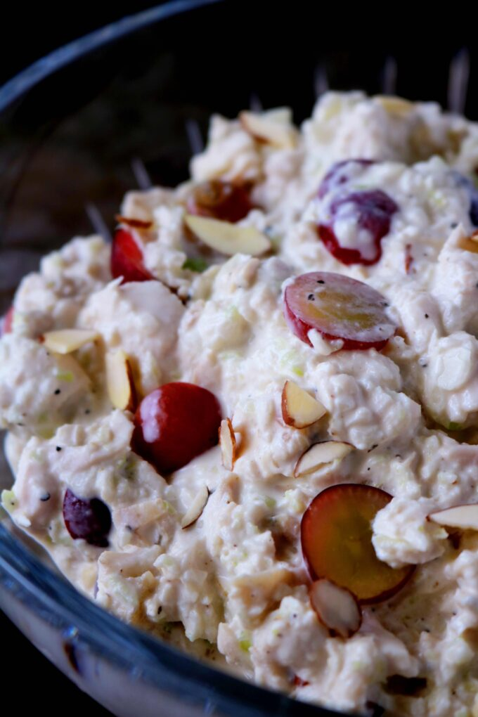 Easy chicken salad with grapes and almonds recipe the anthony this post contains affiliate links forumfinder Images