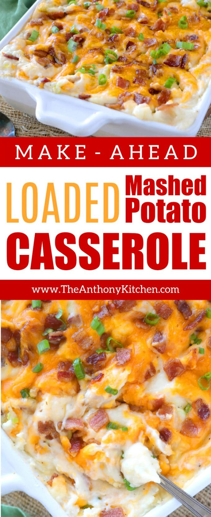 MAKE-AHEAD MASHED POTATO CASSEROLE