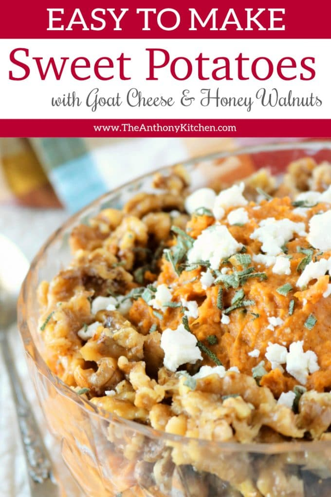 Mashed Sweet Potatoes with Honey and Goat Cheese