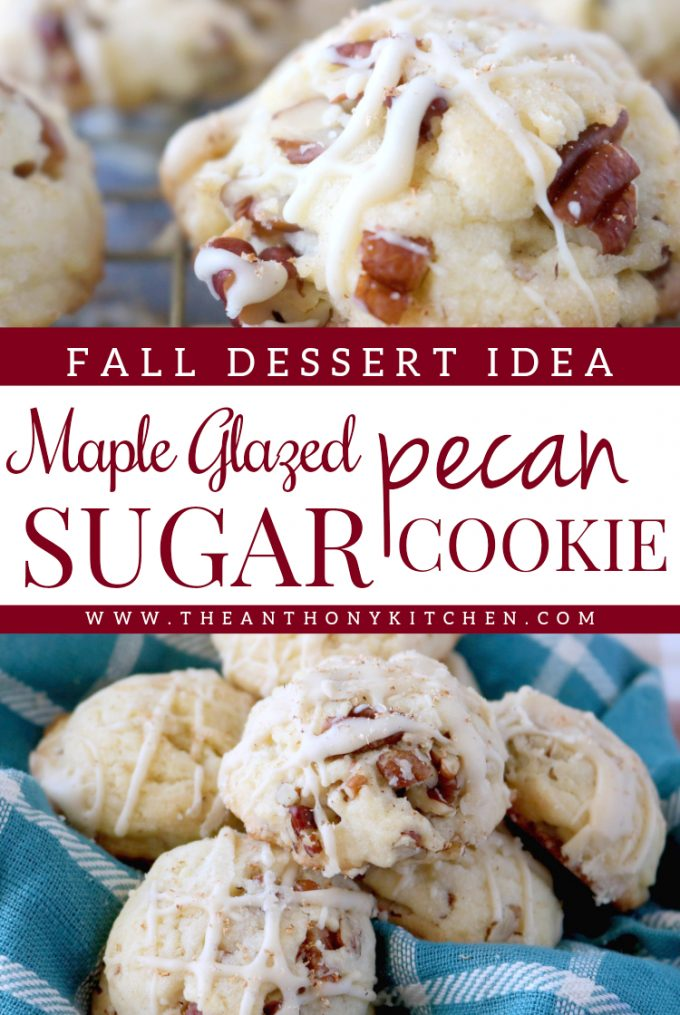 Maple-Glazed Sugar Cookies with Pecans - The Anthony Kitchen