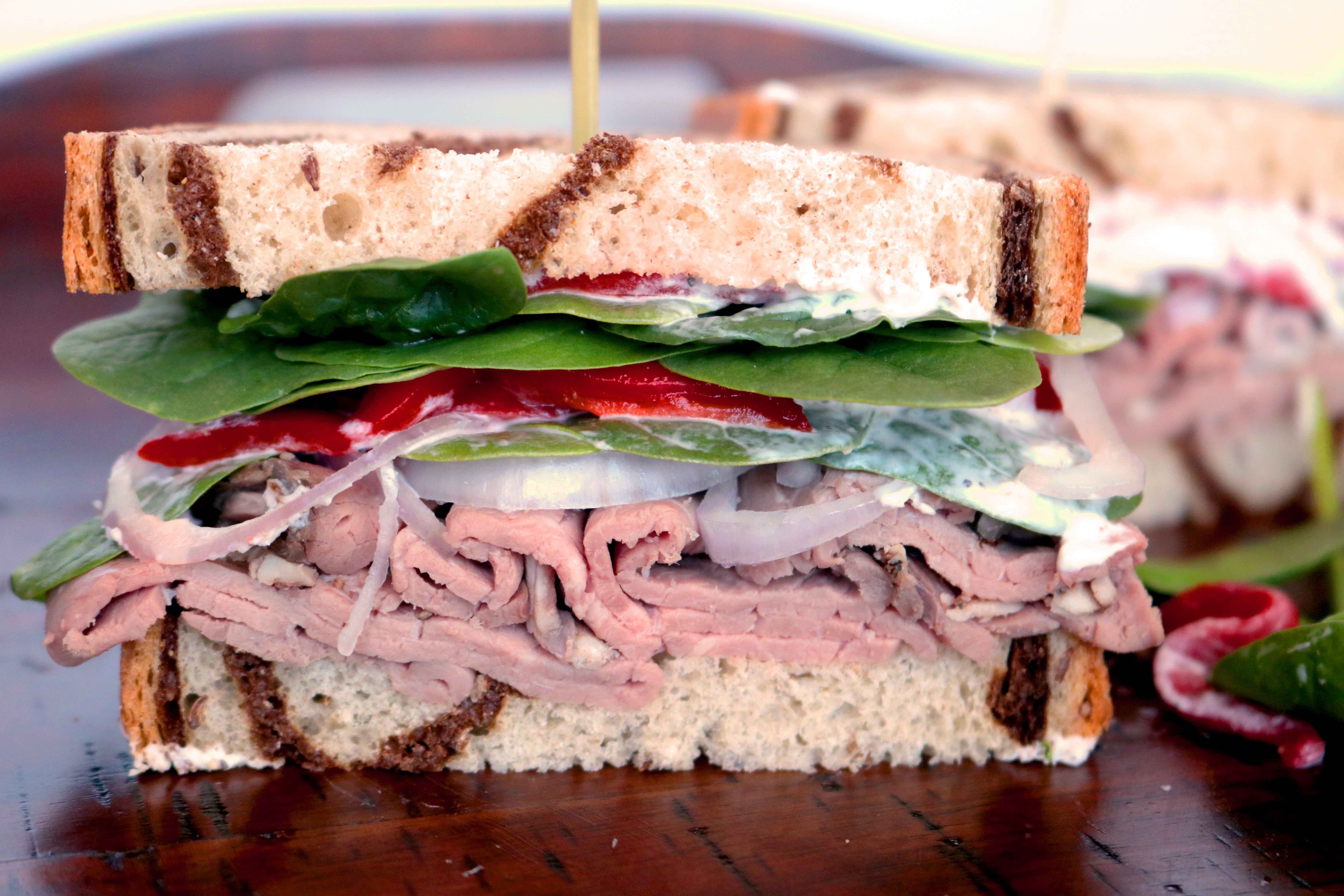 Roast Beef Sandwich Recipe With Quick Roast Beef Sandwich Spread,What Paint Finish For Bathroom Vanity