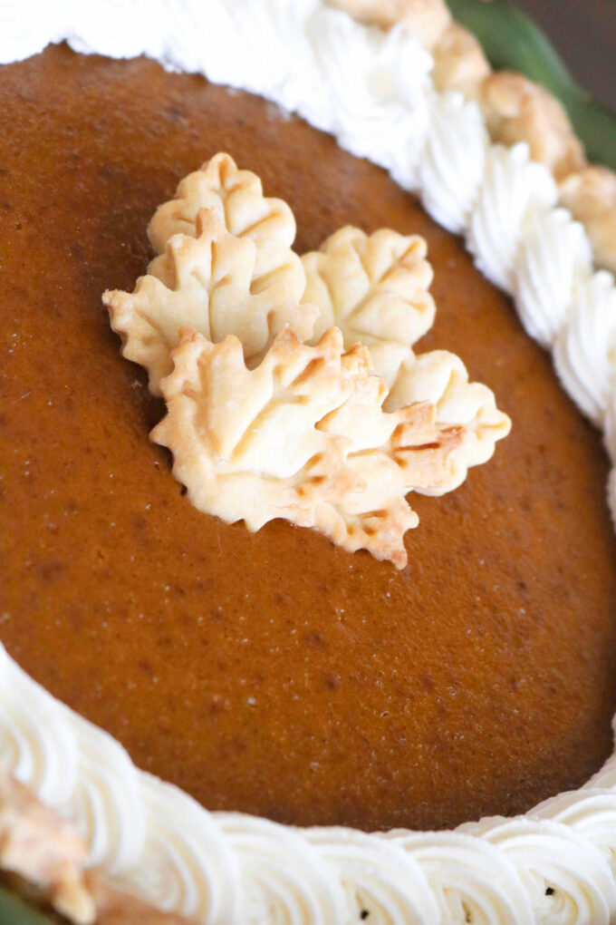 A perfect, homemade pumpkin pie recipe for Thanksgiving. Creamy, flavorful and perfectly cooked. Everything a pumpkin pie should be.