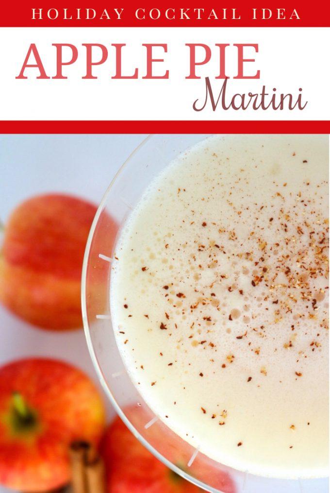 A pinterest image of Apple Pie Martini