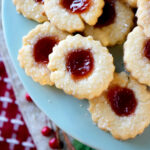 Strawberry Butter Jam Thumbprint Cookies Recipe
