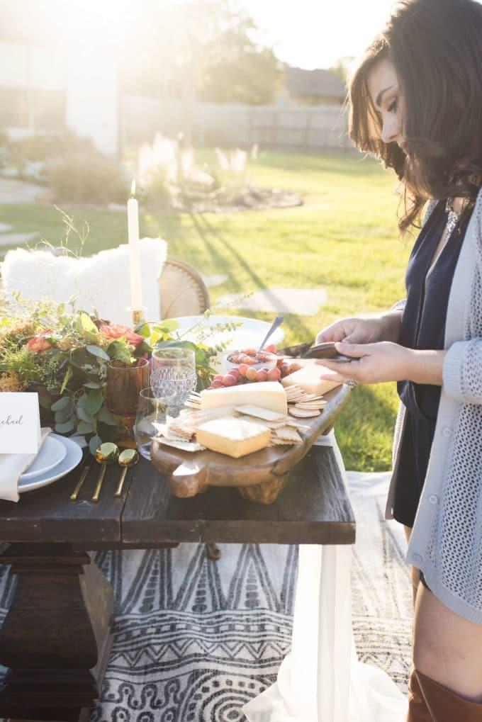 Thanksgiving Cheese Platter