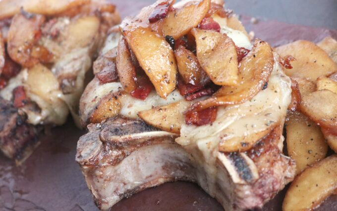Brie & Apple Smothered Chops