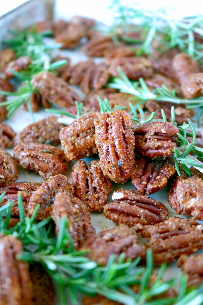 Candied Pecans with Rosemary
