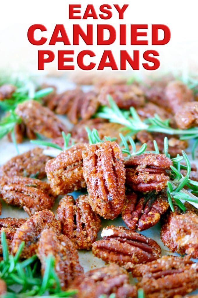 Easy Candied Pecans Made in the Oven