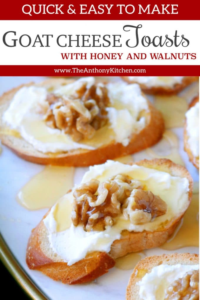 Goat Cheese Toast with Honey and Walnuts