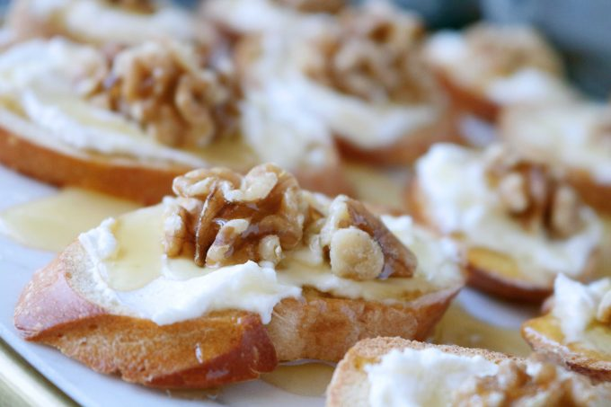 Honey Goat Cheese Toasts