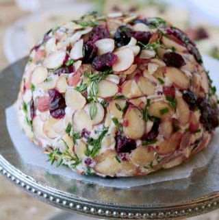 Party Cheese Ball with Goat Cheese & Almonds